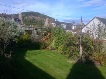 A view from rear garden of Craigendarroch hill.