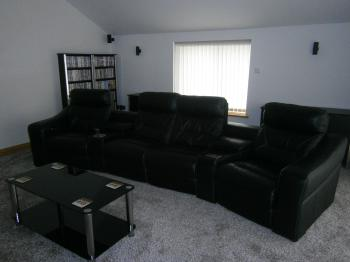 The 4 seater electric reclining cinema sofa