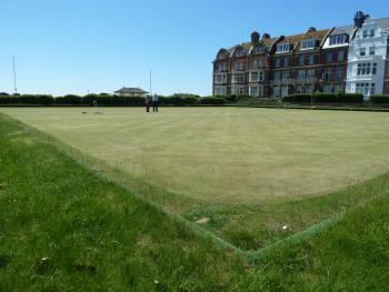 View of the bowls  green opposite the hotel