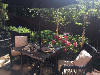 Enjoy a delicious breakfast on our patio
