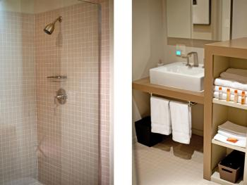 Bathroom in Queen and Double Rooms (Downstairs)