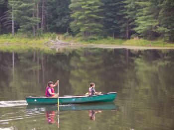 Canoeing on the Montfair lake