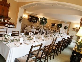 Restaurant layout for Wedding Breakfast/Reception