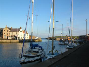 The coast is only about 40 minutes away, this is the pretty fishing port of Eyemouth and St Abbs Head nearby.