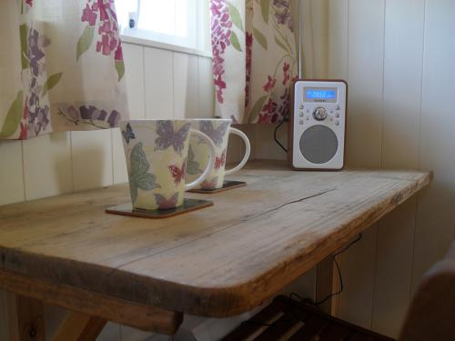 Small desk and digital radio