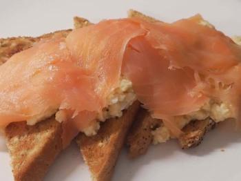 Scrambled Free Range Eggs with Scottish Smoked Salmon