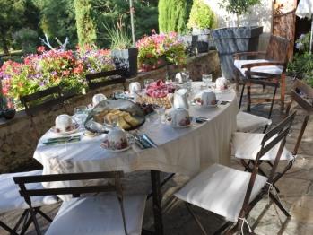 petit déjeuner à l'extérieur