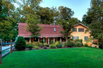Main Lodge with 8 guest rooms on 15 wooded acres