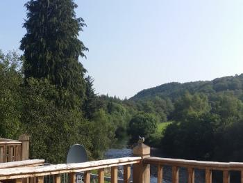 Shared balcony area overlooking the rivers