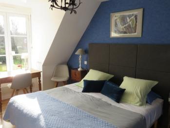 3. Chambre Bleue-Double ou Twin-Confort-Douche-Vue sur Jardin - Tarif de base