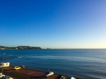 View from one of the 1st Floor sea-view bedrooms at The Channel View Hotel, looking towards Thatchers Rock in Torquay