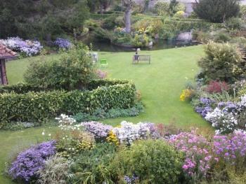 Le jardin vue d'en haut...