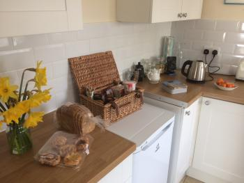 Breakfast hamper in kitchen