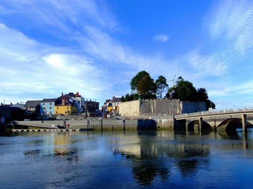 Cardigan Castle from across the river