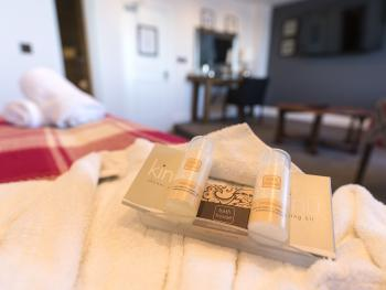 Bathrobes, large soft towels and high quality toiletries in all our rooms