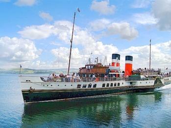 "Paddle Steamer Waverley on a pleasure-trip ""doon the watter"""
