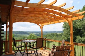 Hideaway Room Deck with View at Bear Meadows Lodge ( no hot tub)