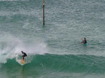 Surfing on Lelant beach