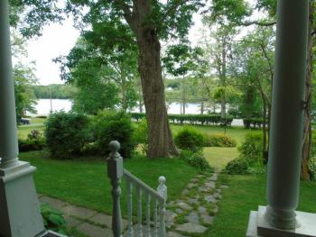 View of the front property and the Mersey River from the veranda