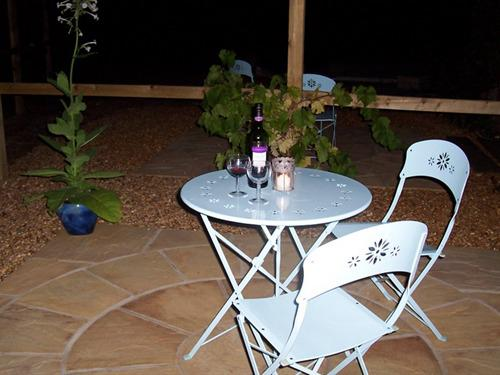Individual patio area