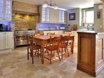 Kitchen in the gîte (holiday villa)