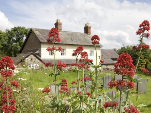 The Coach House from All Saints Church yard in summer