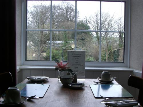 Breakfast room and view