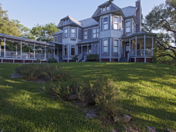 The Manor is our largest lodging accomodation, with seven rooms on three floors. Nestled directly on the banks of Salado Creek, it is the heart of the property. All guests have access to common areas.