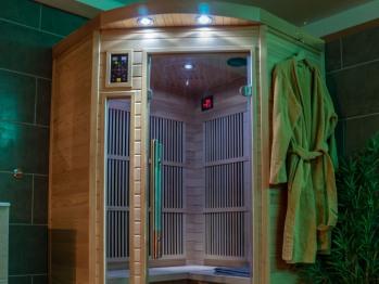 sauna avec son et luminothérapie