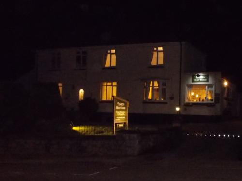 Penarth Guest House on an autumn evening - what to look for when it's dark!