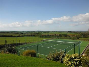 TENNIS COURT AND A FRACTION OF OUR FAB VIEW!