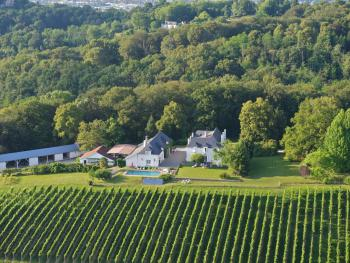 Aerial view of the Clos Mirabel Estate
