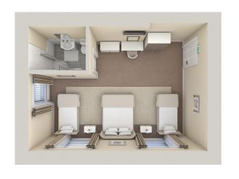 Open Plan Family Room (Sleeps 4, CGI) Floor Plan