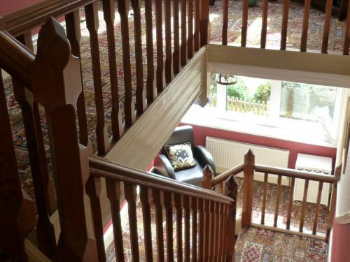 Contemparary decoration, wide stairs and bright daylight in the public areas