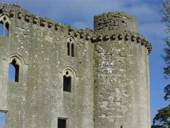 Take a walk to Nunney Castle