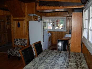 The Cornerstone Cabin - dining/kitchen view