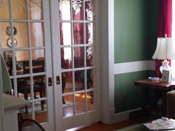 Pocket Doors separate Parlor and Dining Room