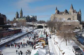Rideau Canal in Winter.
