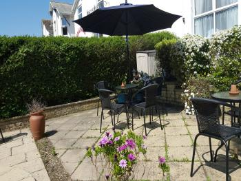 Our south facing garden has well positioned shaded areas.