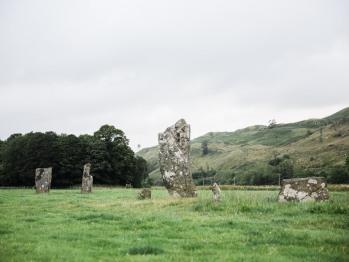 Standing stone in Kilmartin Glen