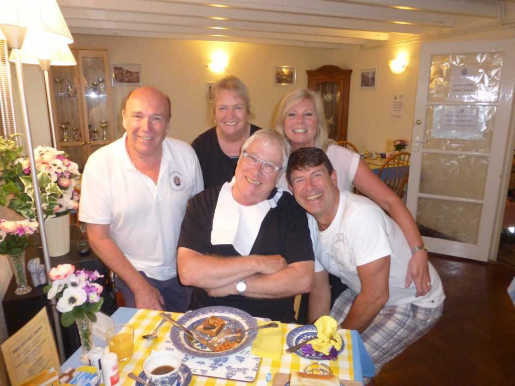 Jim and Shirley in the breakfast room with some of our lovely guests