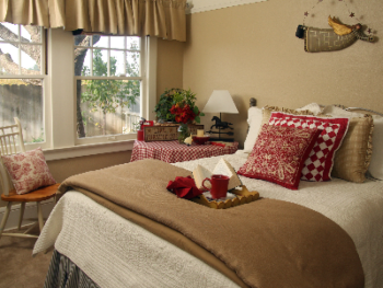 Vintner's comfortable private bedroom