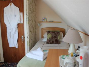 Single room with Private bathroom.