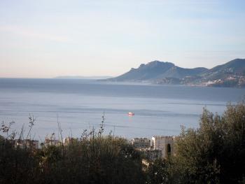 Vue mer panoramique depuis le jardin