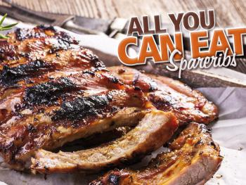 "Jeden Donnerstag ""All you can eat BBQ-Buffet"""
