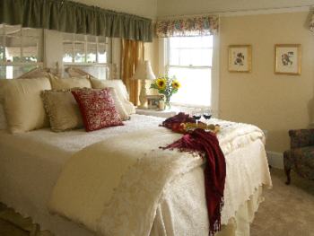 Vintner's serene private bedroom