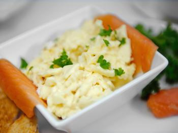 Other breakfast options include smoked salmon and scrambled eggs, porridge, crumpets and hot croissants.