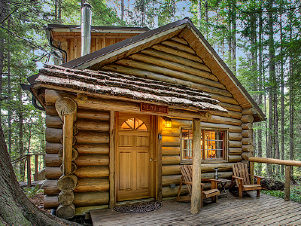 Log Cabin-Jacuzzi-Deluxe-Woodland view-Mountain Home log cabin