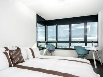 Chambre Double Premium no 1 avec vue sur le lac et les montagnes