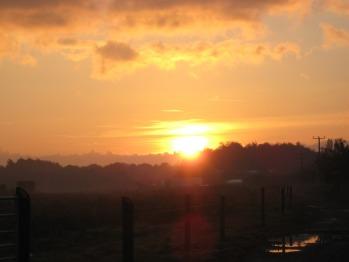 Autumn Sunrise over Martin Lane